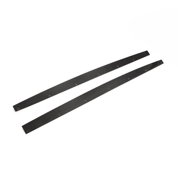 For Bentley Continental GT 2-Door 12-18 Carbon Fiber Side Skirts Door Rocker Panels Extension Lip