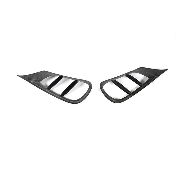 For Mercedes Benz W212 Sport Sedan 14-16 Carbon Fiber Front Bumper Air Vent Trim