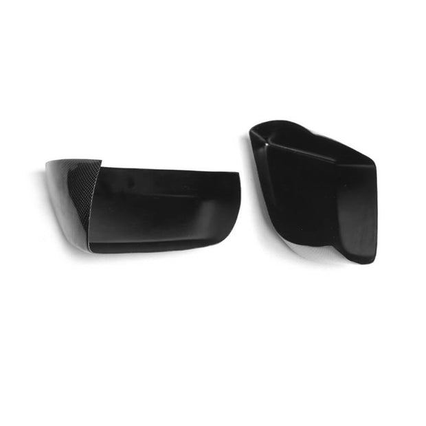 For Cadillac ATS Sedan 13-19 Carbon Fiber Side Rearview Mirror Cover Caps Pair