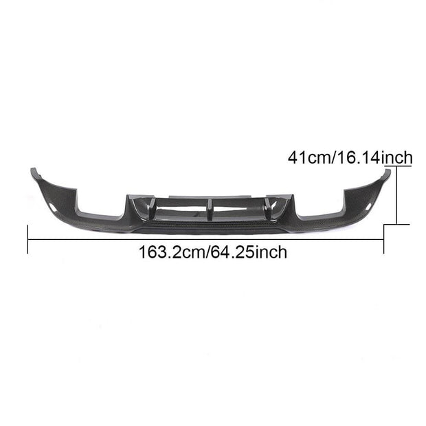 For Volkswagen VW Golf 7.5 MK7.5 Base/R/GTI Hatchback 18-20 Carbon Fiber Rear Bumper Diffuser Lip