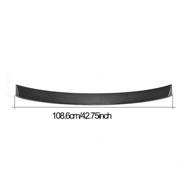 For Mercedes Benz C238 Coupe 17-19 Carbon Fiber Rear Roof Spoiler Window Wing Lip