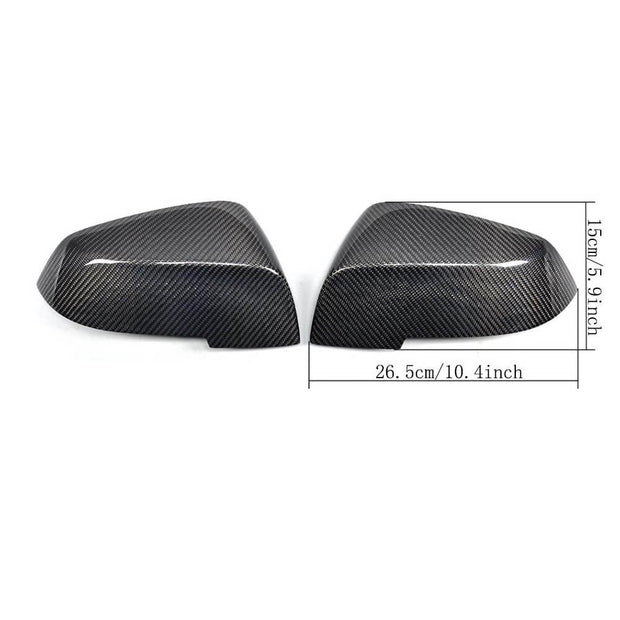 For BMW E87 F20 F30 Sedan Hatchback 11-18 Carbon Fiber Side Rearview Mirror Cover Caps Pair