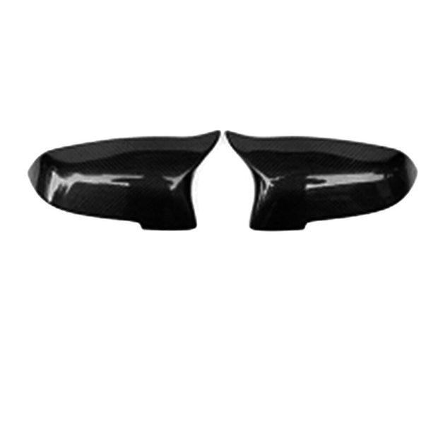 For BMW F10 Sedan 14-18 Carbon Fiber Side Rearview Mirror Cover Caps Pair