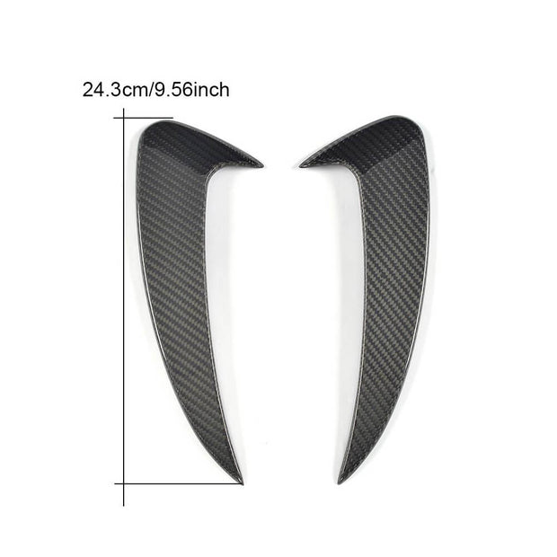 For Mercedes Benz C238 Sport Coupe 17-19 Carbon Fiber Rear Bumper Fins Air Vent Canards Body Kits