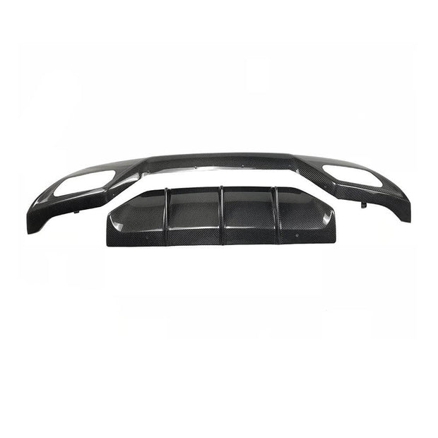 For Mercedes Benz W176 Sport A45 Hatchback 13-18 Carbon Fiber Rear Bumper Diffuser Body Kit