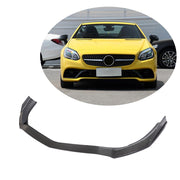For Mercedes Benz SLC Class R172 Base Convertible 16-19 Carbon Fiber Front Bumper Lip Chin Spoiler Body Kit