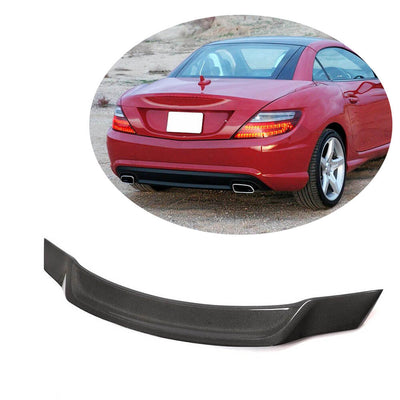 For Mercedes Benz SLK SLC Class R172 Convertible 12-19 Carbon Fiber Rear Trunk Spoiler Boot Wing Lip