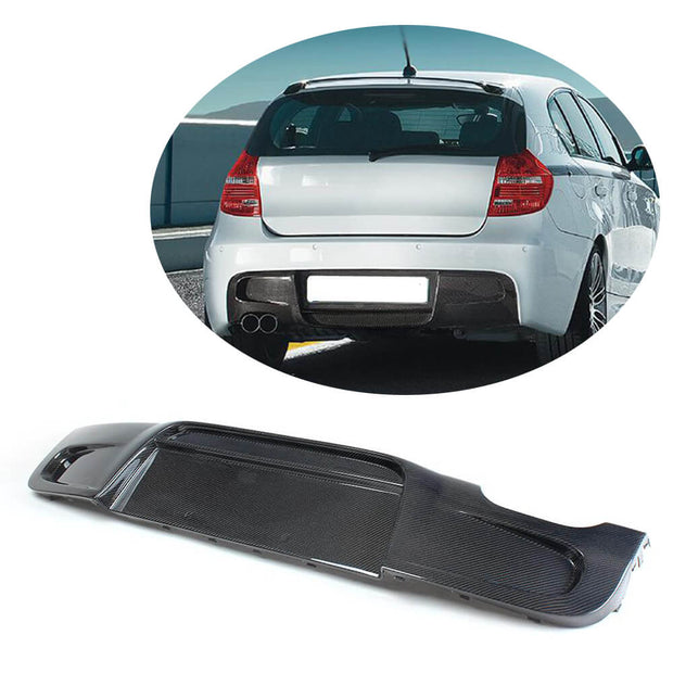 For BMW 1 Seires E87 M Sport Hatchback 07-12 Carbon Fiber Rear Bumper Diffuser Body Kit