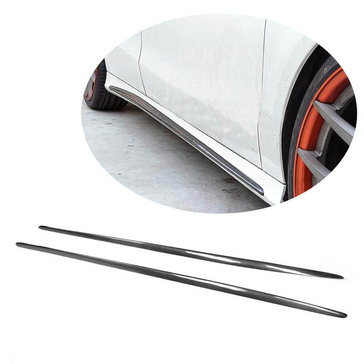 For Mercedes Benz W176 Sport A45 Hatchback 13-18 Carbon Fiber Side Skirts Door Rocker Panels Extension Lip
