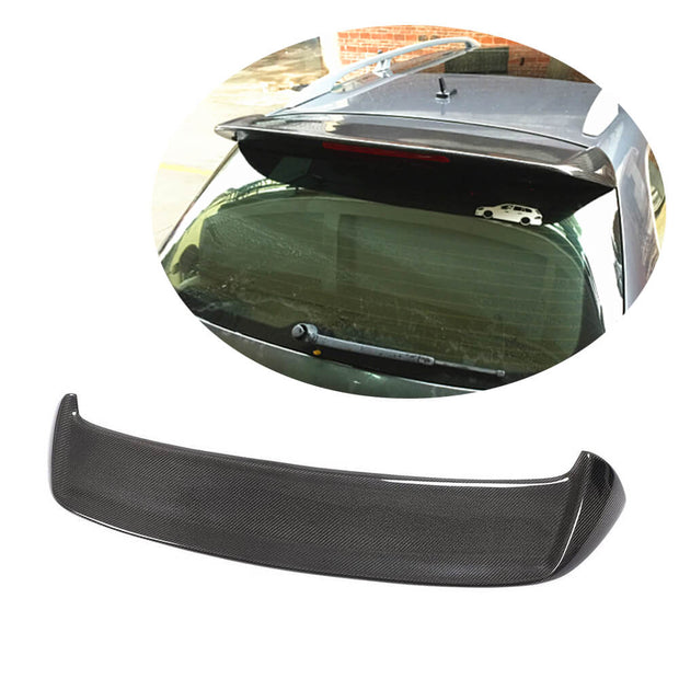 For Volkswagen VW Golf 6 MK6 Base Wagon 10-13 Carbon Fiber Rear Roof Window Spoiler Boot Wing Lip