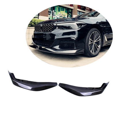 For BMW 5 Series G30 G31 M Sport 17-20 Carbon Fiber Front Bumper Splitter Cupwing Winglets Vent Flaps