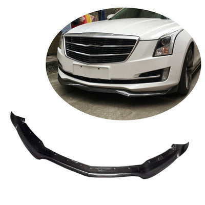 For Cadillac ATS Base Coupe Sedan 13-19 Carbon Fiber Front Bumper Lip Chin Spoiler Body Kit