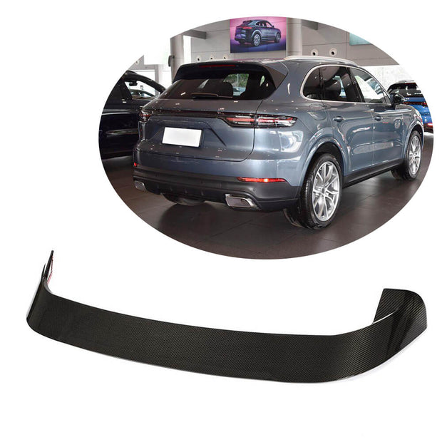 For Porsche Cayenne Base Sport Utility 18-21 Carbon Fiber Rear Trunk Spoiler Boot Wing Lip