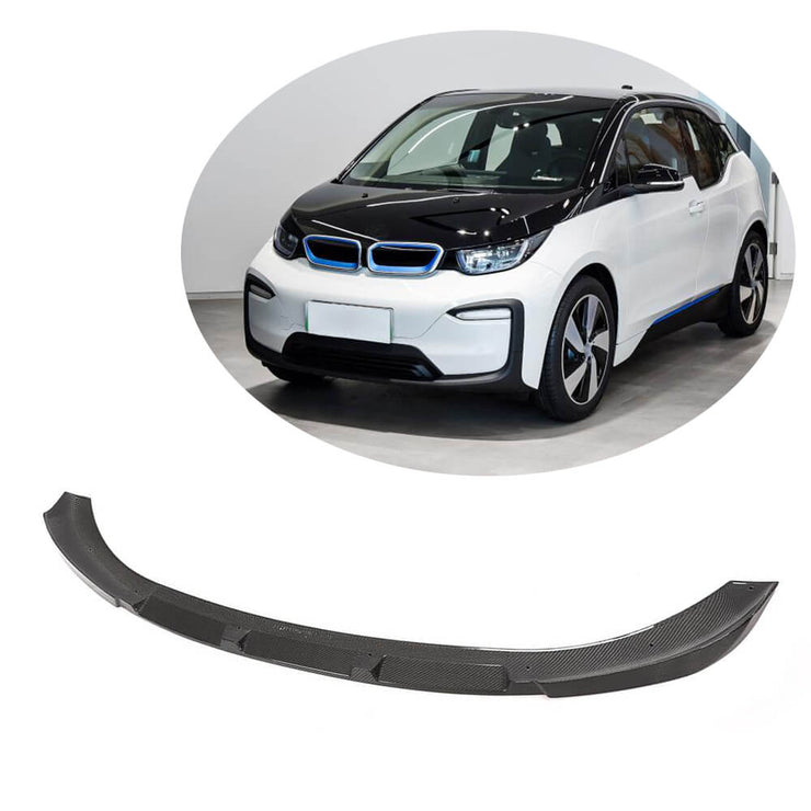For BMW I3 Hatchback 18-20 Carbon Fiber Front Bumper Lip Chin Spoiler Body Kit