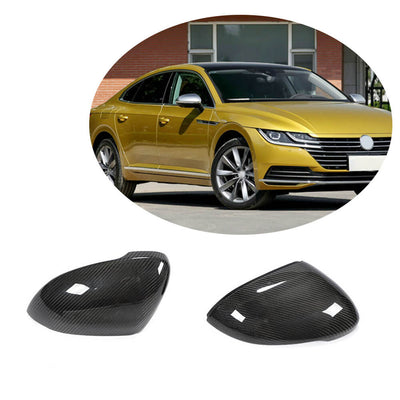 For Volkswagen VW Passat CC Magotan Sedan 19UP Carbon Fiber Side Rearview Mirror Cover Caps Pair