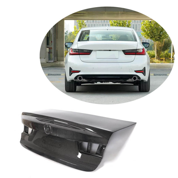 For BMW 3 Series G20 Sedan 19UP Carbon Fiber Rear Trunk Tail Lid Cover