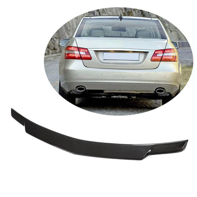 For Mercedes Benz W212 Sedan 10-16 Carbon Fiber Rear Trunk Spoiler Boot Wing Lip