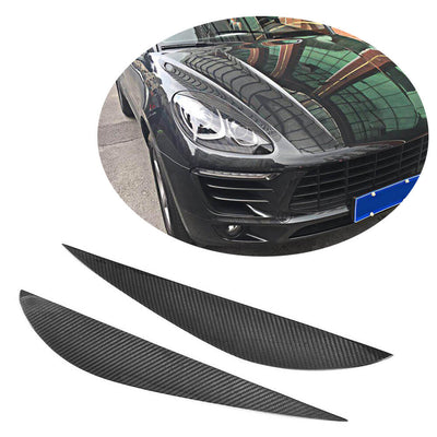 For Porsche Macan Sport Utility 14-18 Carbon Fiber Headlight Eyebrows Lamp Eyelids