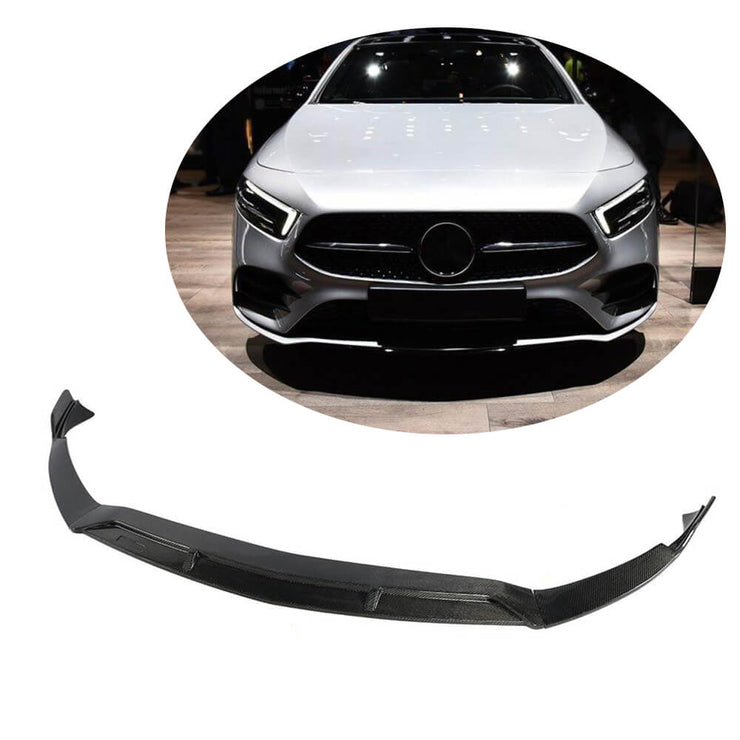 For Mercedes Benz W177 V177 Sport Sedan 2019UP Carbon Fiber Front Bumper Lip Chin Spoiler Body Kit