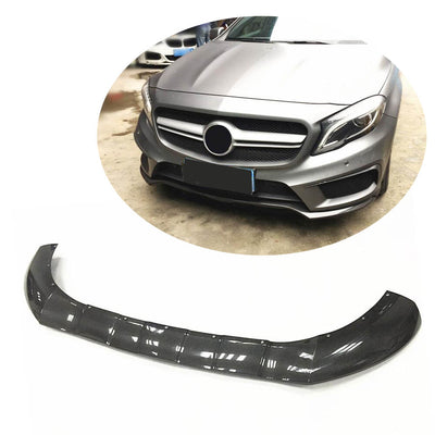 For Mercedes Benz X156 GLA45 AMG Sport Utility 15-16 Carbon Fiber Front Bumper Lip Chin Spoiler Body Kit