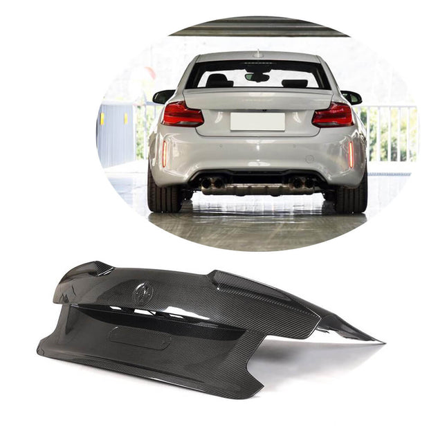 For BMW 2 Series F87 M2 M2C Coupe 16-20 Carbon Fiber Rear Trunk  Cover