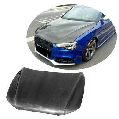 For Audi A5 8.5 Sline S5 Sportback 12-16 Carbon Fiber Engine Bonnet Hood Cover