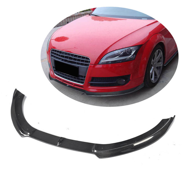 For Audi TT MK2 8J 2-Door 08-10 Carbon Fiber Front Bumper Lip Chin Spoiler Body Kit