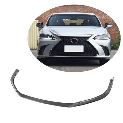 For Lexus Lexus ES300h ES350 Base / F Sport Sedan 18-20 Carbon Fiber Front Bumper Lip Chin Spoiler Body Kit