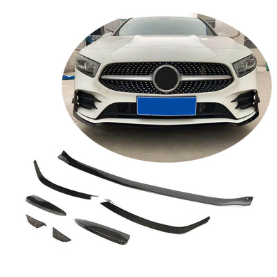 For Mercedes Benz W177 V177 Sport Sedan 2019UP Carbon Fiber Front Bumper Lip Canards Body Kit