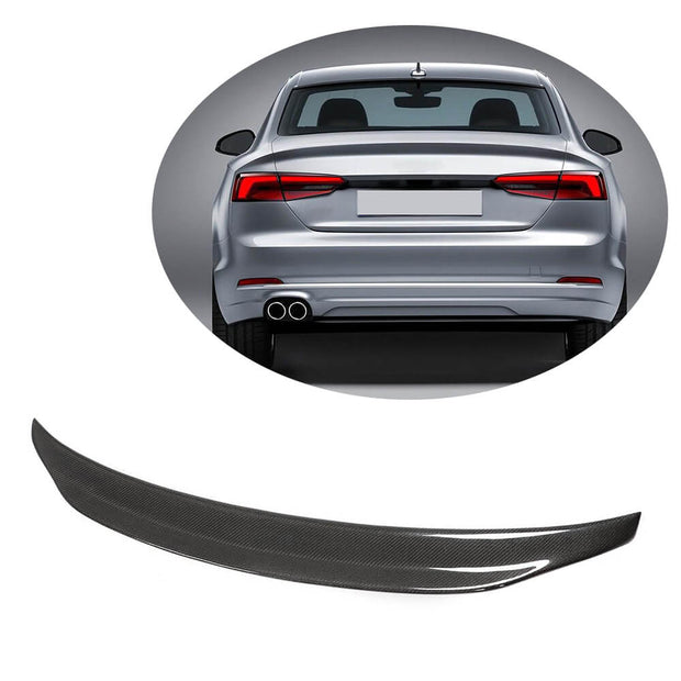 For Audi A5 B9 Quattro Sline S5 Coupe 17-20 Carbon Fiber Rear Trunk Spoiler Boot Wing Lip