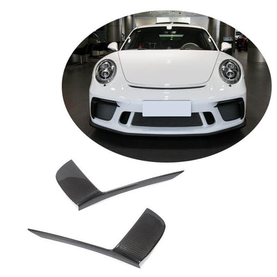 For Porsche 911 GT3 RS Coupe 17-19 Dry Carbon Fiber Front Air Fender Vent Fins