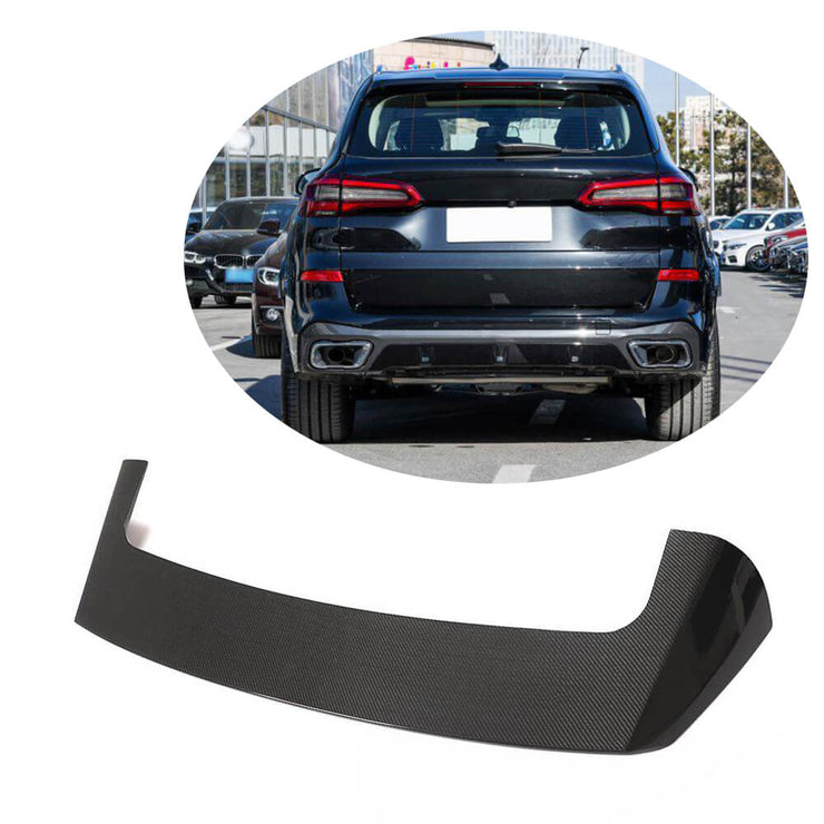 For BMW X5 G05 Sport Utility 19UP Carbon Fiber Rear Spoiler Roof Window Wing Lip