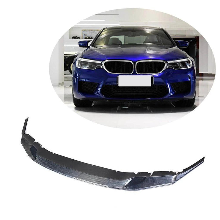 For BMW 5 Series F90 M5 Sedan 18-20 Carbon Fiber Front Bumper Lip Chin Spoiler Body Kit
