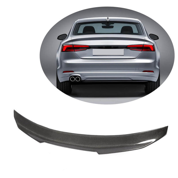 For Audi A5 Quattro Sline S5 Coupe 17-20 Carbon Fiber Rear Trunk Spoiler Boot Wing Lip