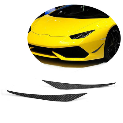For Lamborghini Huracan 14-18 Carbon Fiber Front Bumper Fins Air Vent Canards Body Kits