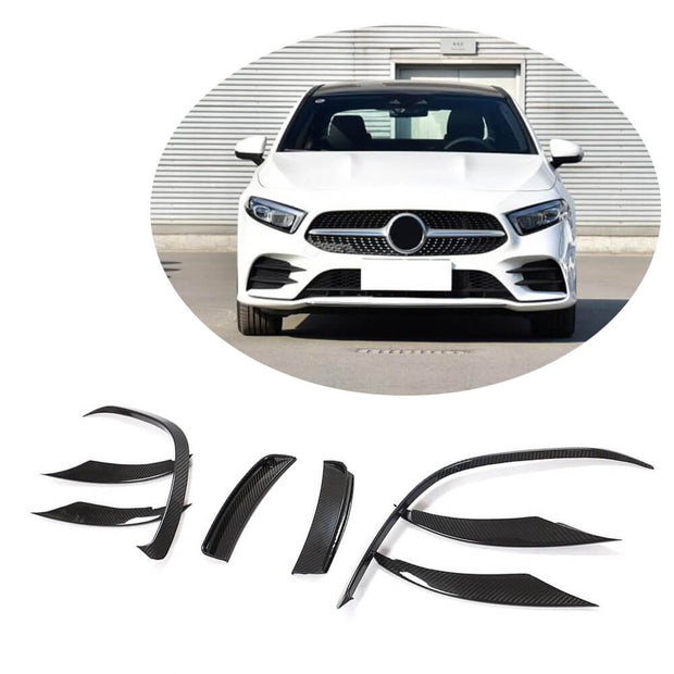 For Mercedes Benz W177 V177 Sport Sedan 2019UP Carbon Fiber Front Bumper Air Fender Vent Trims