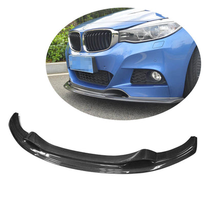 For BMW 3 Series F34 M Sport GT Gran Turismo 14-18 Carbon Fiber Front Bumper Lip Chin Spoiler Body Kit