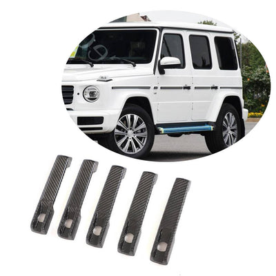 For Mercedes Benz W463 Wagon 19UP Real Dry Carbon Fiber Door Handle Cover Trim