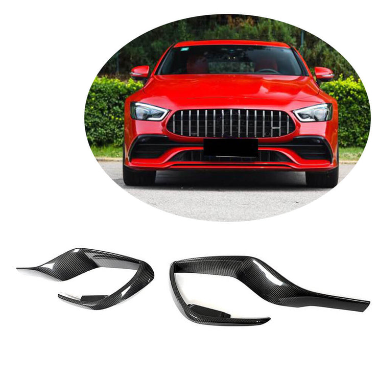 For Mercedes Benz AMG GT43 GT50 GT53 Sedan 19-21 Carbon Fiber Front Bumper Air Vent Trim