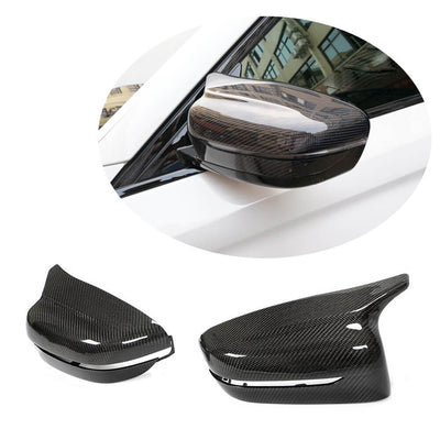 For BMW 3 Series G20 G21 Sedan Wagon 19-21 Carbon Fiber Side Rearview Mirror Cover Caps RHD Pair