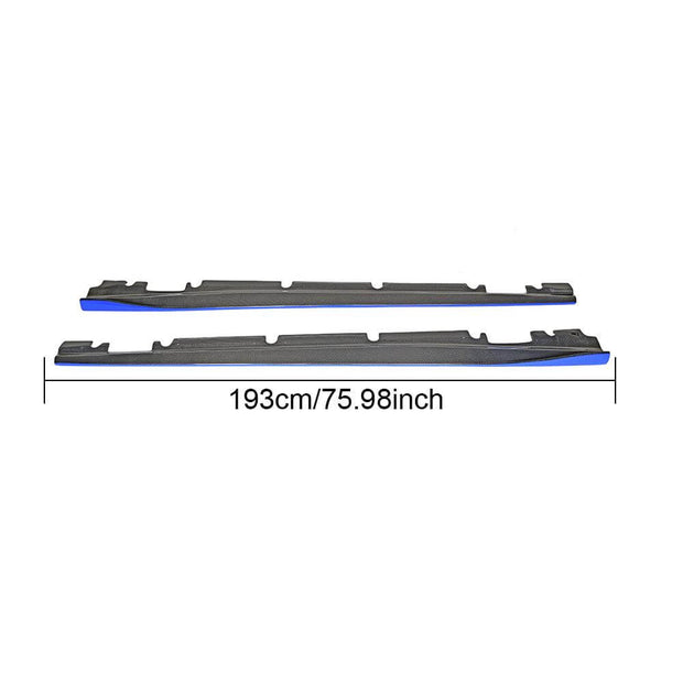 For Mercedes Benz W176 W117 C117 Hatchback 13-18 Carbon Fiber Side Skirts Door Rocker Panels Extension Lip