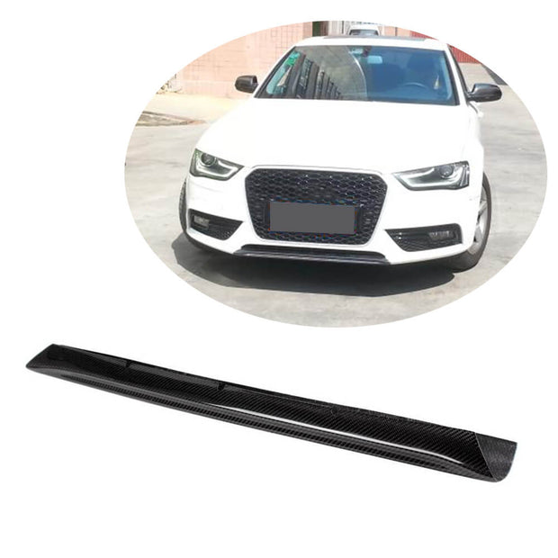 For Audi A4 B8.5 Base Sedan 13-16 Carbon Fiber Front Bumper Center Lip  Spoiler Body Kit
