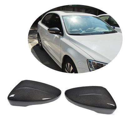 For Volkswagen VW Passat CC Scirocco Carbon Fiber Side Rearview Mirror Cover Caps Pair
