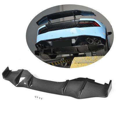 For Lamborghini Huracan 14-18 Carbon Fiber Rear Bumper Diffuser Body Kit