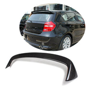 For BMW 1 Series E81 E87 Hatchback 04-12 Carbon Fiber Rear Roof Spoiler Window Wing Lip