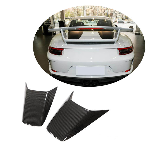 For Porsche 911 GT3 Coupe 17-19 Carbon Fiber Rear Trunk Air Vent Cover