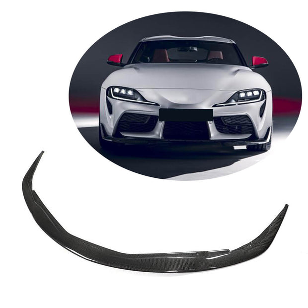 For Toyota Supra JP29 Coupe 19-21 Carbon Fiber Front Bumper Lip Chin Spoiler Body Kit