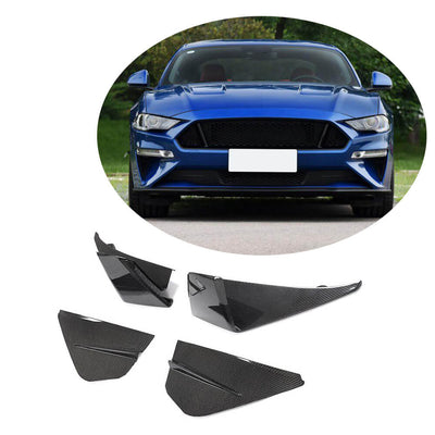 For Ford Mustang V8 GT 2-Door 18-20 Carbon Fiber Front Bumper Fog Light Air Vent Cover