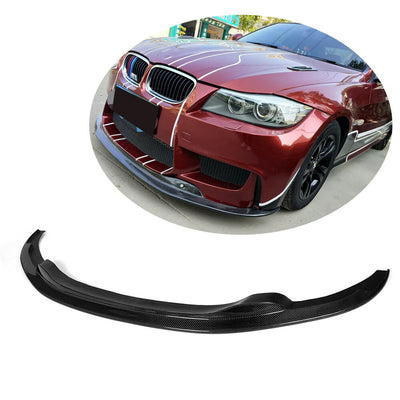 For BMW 3 Series E90 Base Sedan LCI 09-12 Carbon Fiber Front Bumper Lip Chin Spoiler Body Kit