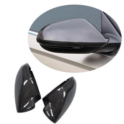 For Audi A6 Sline S6 RS6 Sedan 12-15 Carbon Fiber Side Rearview Mirror Cover Caps Pair